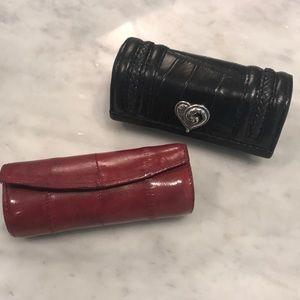 Brighton Lipstick holder with burgundy eel skin❤️
